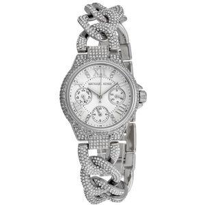 Chain link rhinestone faux-diamond crystal jewel